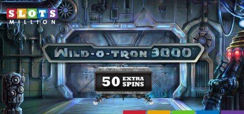 Wild o-tron spins at SlotsMillion