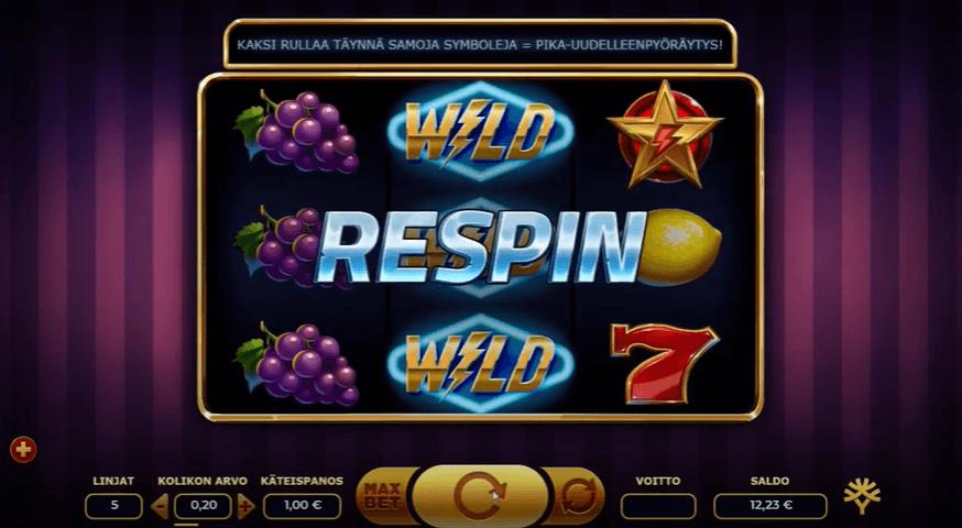 Respin in Lightning Joker Slot