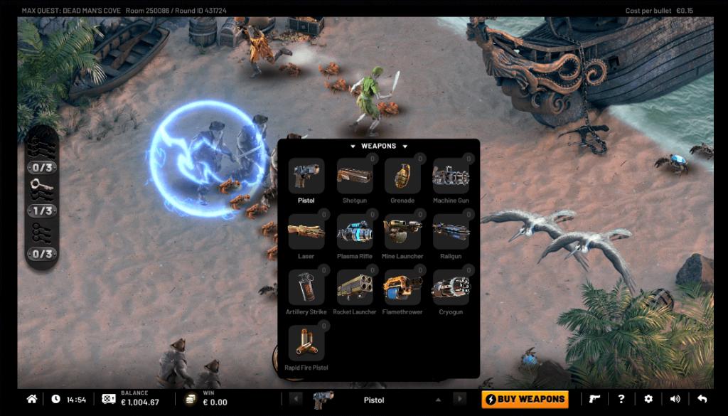 Max Quest: Dead Man's Cove Memiliki Beberapa Pilihan Senjata