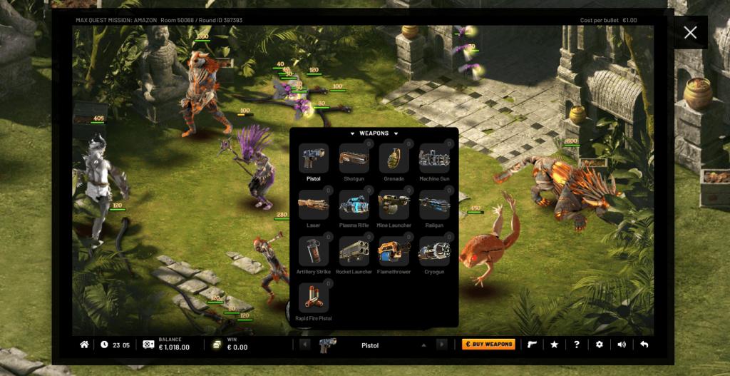 Ada Beberapa Senjata di Max Quest - Mission: Amazon Game