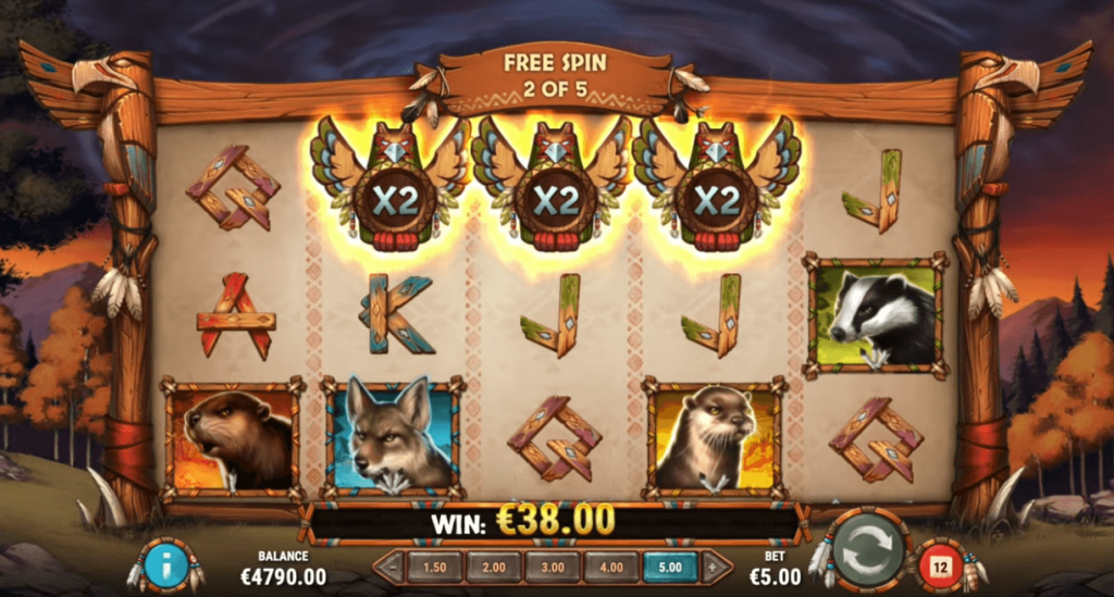 Thunder Screech Slot Free Spin Feature