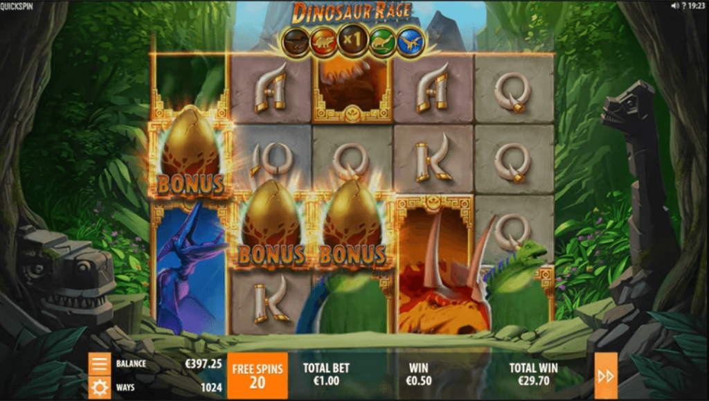 Dinosaur Rage Slot Review