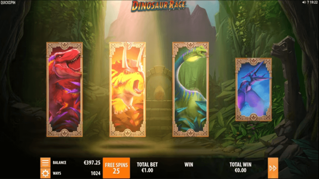 Features In Dinosaur Rage Slot
