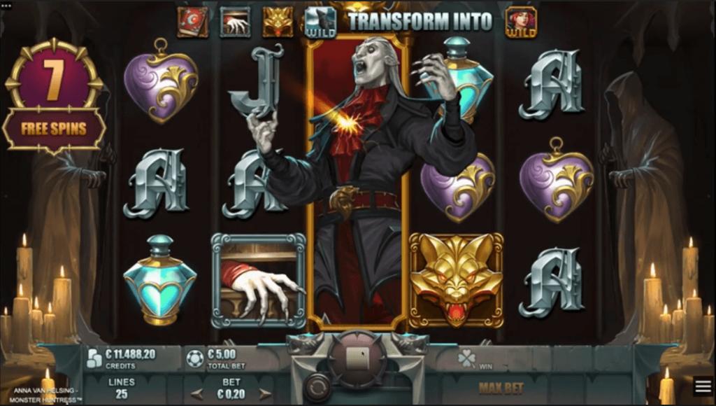 Anna Van Helsing Monster Huntress Free Spins