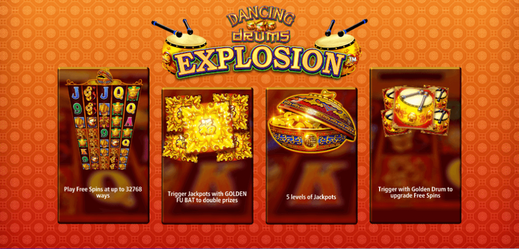 Dancing Drums Explosion Features