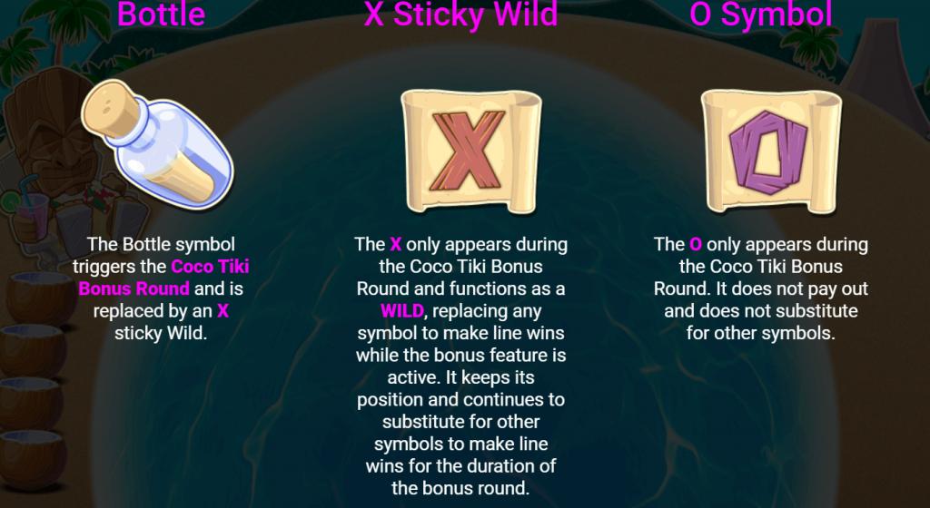 Coko Tiki Slot Bonus Symbols