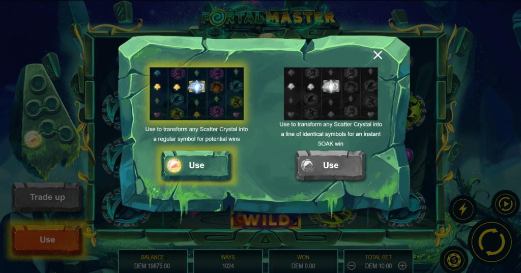 Using Energy Spheres In Portal Master Slot